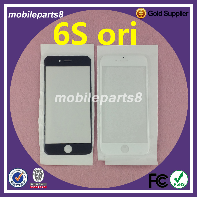 10pcs/lot Fress shipping fee touch screen glass (not digitizer)for iPhone 6S Front Screen Outer Glass Replacement ori