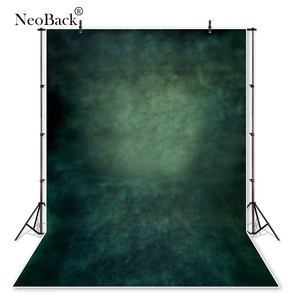 NeoBack Vinyl Cloth Misty Green Tone Old master Abstract Photo Backgrounds Printed Studio Pro Portrait Photo Backdrops P0712 wallpaper headboard bed photo backdrop portrait cloth computer printed bedroom backgrounds