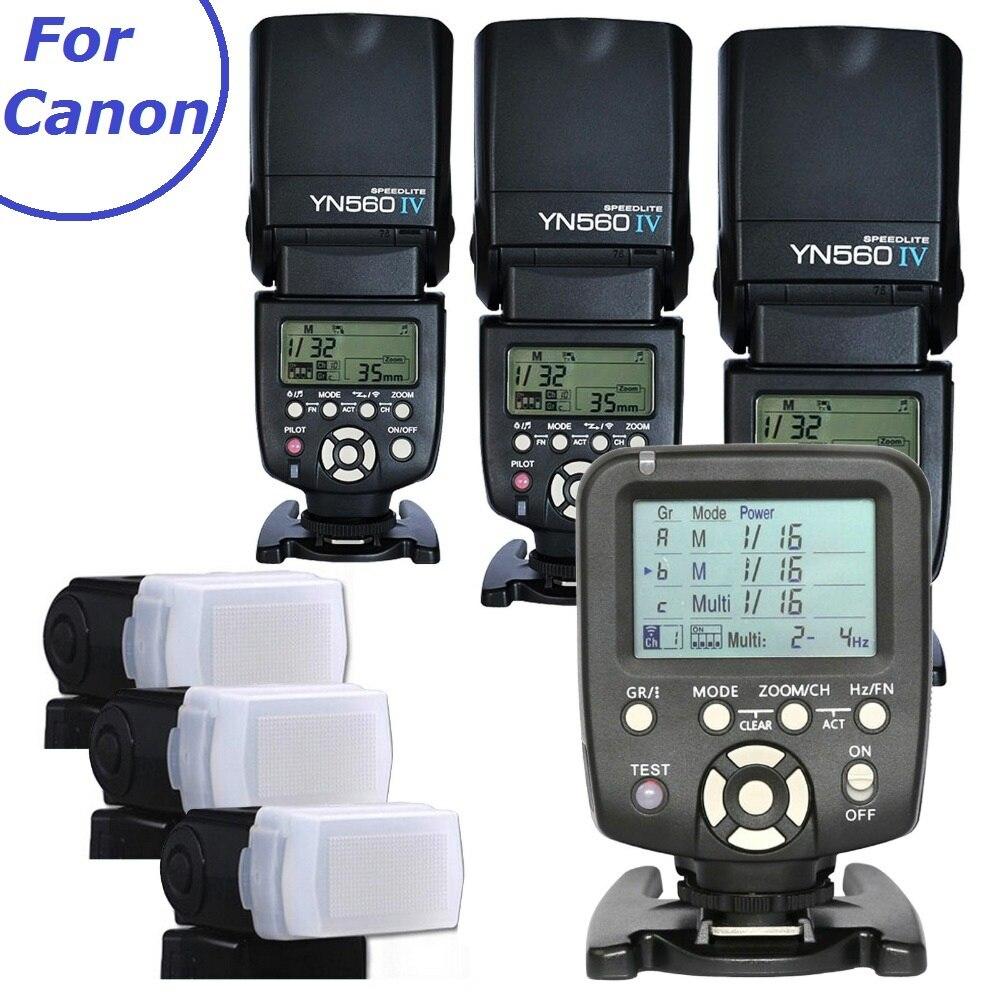 3pcs Yongnuo YN560-IV 560IV Flash light Speedlite Speedlight + YN560-TX Wireless Flash Controller for Canon DSLR Cameras 6D 60D yongnuo yn 560 iv yn560iv yn560 iv universal wireless flash speedlite yn560 tx trigger for canon 760d 750d 70d 60d 7d 5d dslr