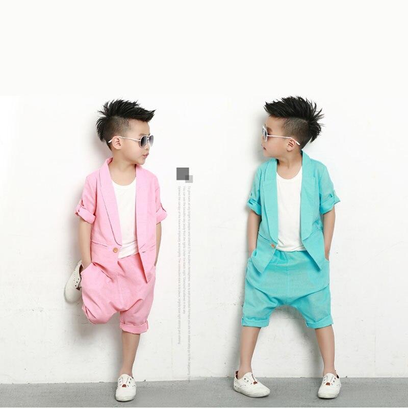 Kids Hip Hop Clothing Formal Boys Half Sleeve Coat Kids ...