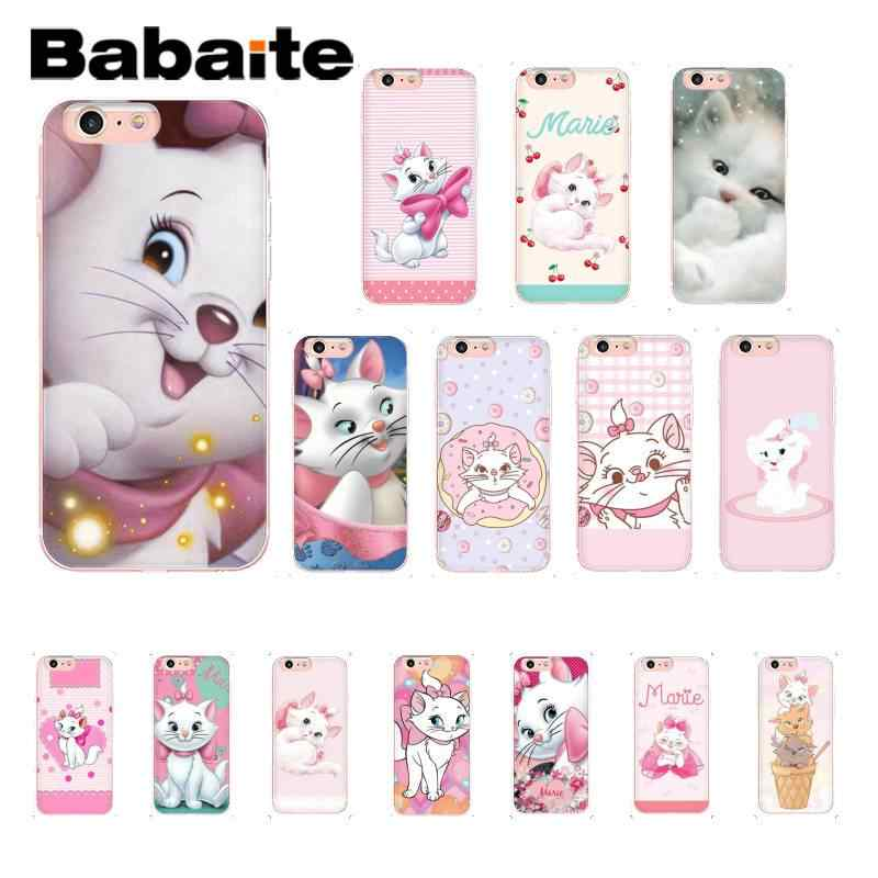 Babaite Pink marie aristocats Cat cartoon TPU Soft Phone Case for iPhone 8 7 6 6S Plus 5 5S SE XR X XS MAX 10 11 11pro 11promax