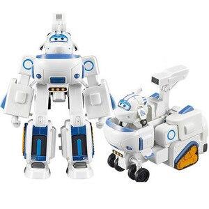 Image 5 - 17*11cm super asas brinquedos avião abs figuras de ação super asa transformação robô jet animação para presentes de aniversário