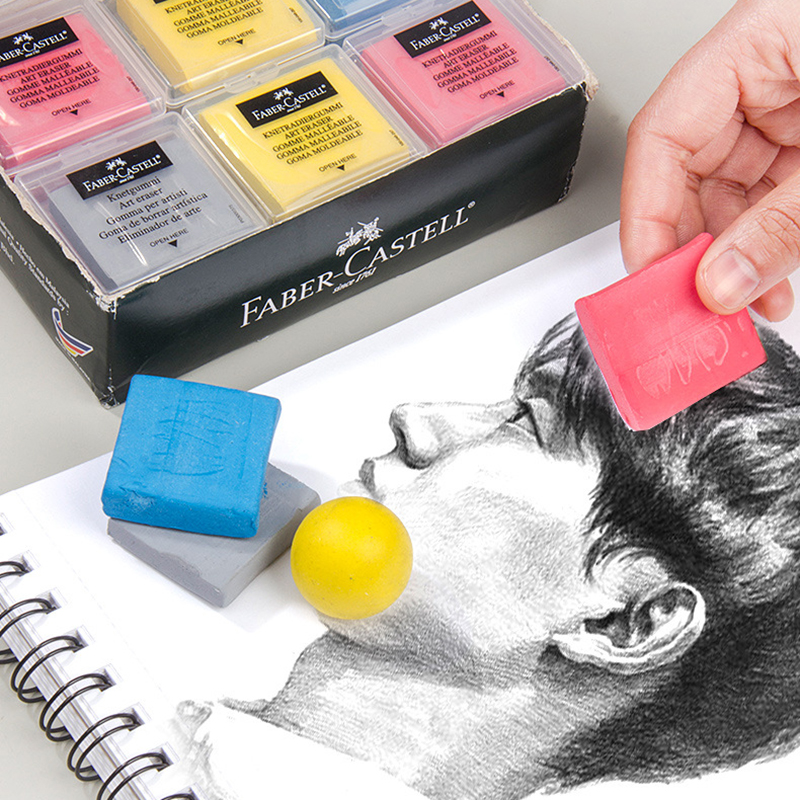 Faber Castell Plasticity Rubber Soft Eraser Professional Design Drawing Sketch Highlight Kneaded Eraser Art Stationery Supplies