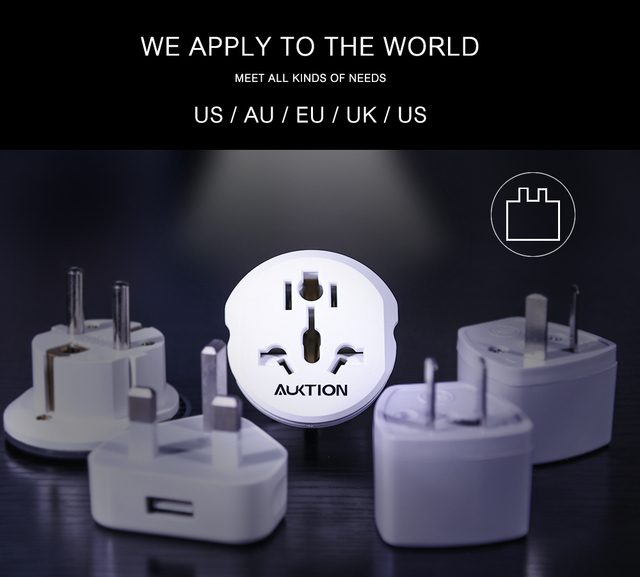 Best 16A Universal EU Travel Adapter Euro Converter UK US AU to EU AC Power Socket Plug Travel Charger Adapter Converter 250V 4