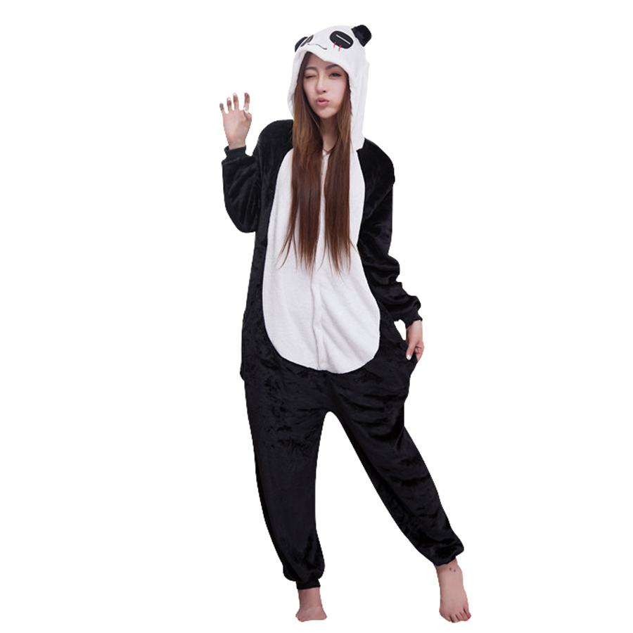 Animal Cosplay Adult Flano Costume Red Tear Panda Onesies Pajama For Halloween Carnival Masquerade Christmas Party