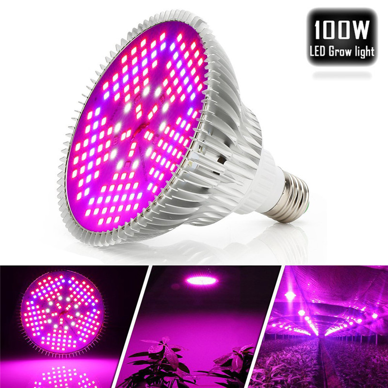 LED Grow Light 30W E27 2835 150SMD Full Spectrum Indoor Plant Lamp For Plants Vegs Hydroponic System Plant