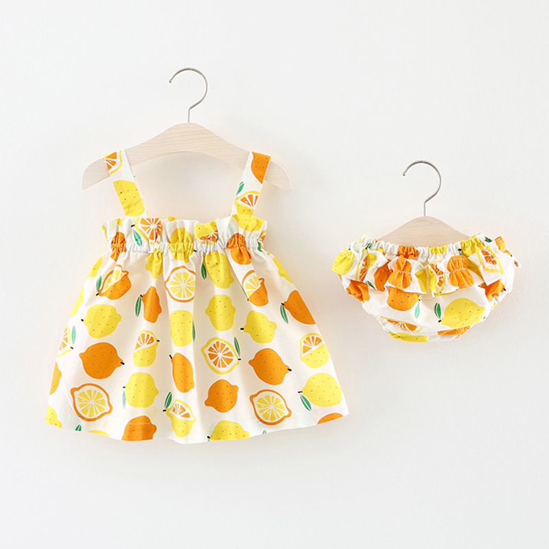 Budermmy Baby Girls Dresses + Shorts 2 Pcs Sets Adorable Clothing Trendy Ruffle Flexible Tops and Shorts Summer Kids Clothes