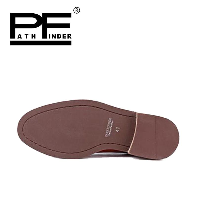 De Couro Até Homens Homem Sapatos Preto Preto Casuais Básica Tornozelo Verão marrom Botas Rendas Marrom Dos Genuíno Pathfinder qpUEwp