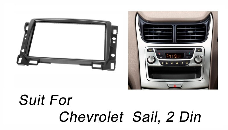 Double Din Fascia For Chevrolet Sail Radio DVD Stereo Panel Dash Mount Install Trim Kit Refit Frame