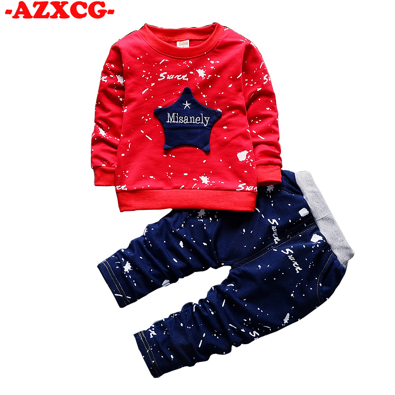 Baby Girls Clothing Sets Star Print 2018 Spring Autumn Children s Sweater Cotton Casual Tracksuits Kids Clothes Sports Suit