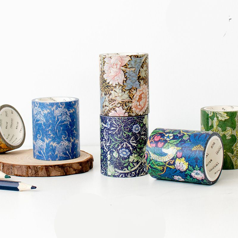 William Morris Floral Washi Tape 50mm*5M 2018 New Flowers Theme Washi Paper Masking Tape 1 Piece DIY Supplies Gift
