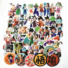 TD ZW 2019 50Pcs/lot Anime Dragon Ball Stickers Super Saiyan Goku Stickers Decal For Snowboard Luggage Car Fridge Laptop Sticker(China)