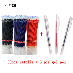 DELVTCH 0.5mm 30pcs/lot Gel Pe