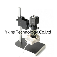 HD 2.0MP Digital Microscope Camera PC VGA Output +56 LED Lights + 100X C Bayonet Lens + Stand for PCB Inspection