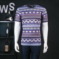 Czeski Styl Striped Gwiazdy Drukuj Hip Hop Koszulkę Homme Odzież męska Krótki Rękaw Casual Fashion T Shirt Dla Mężczyzn L-3XL