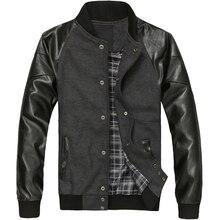 font b Men s b font Spring coats PU font b Leather b font Sleeve