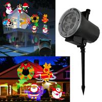 12W High Bright Colorful LED Christmas Light Outdoor Waterproof Snowflakes Festival Projection Lawn Lantern Stage Laser Lamp