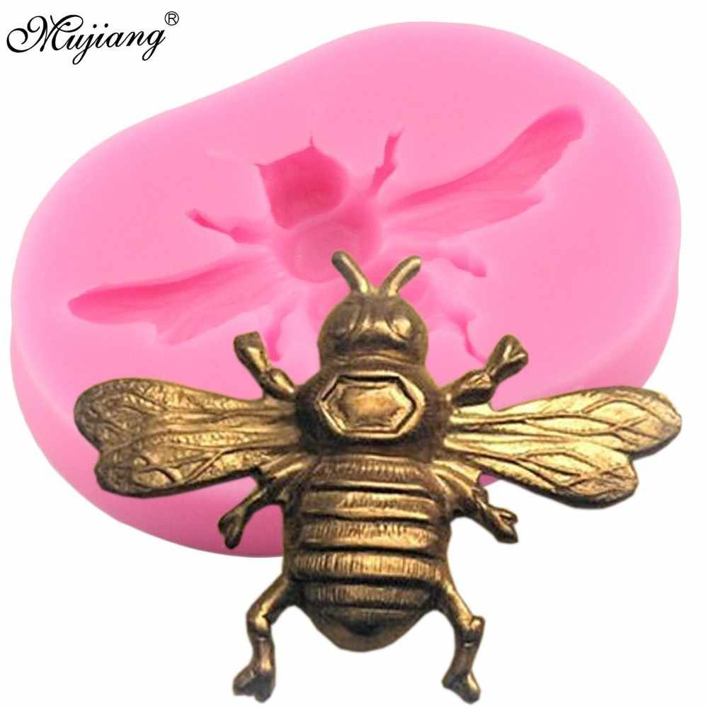 3D Bumble Bee Silicone Mold DIY Cookie Baking Cupcake Fondant Candy Chocolate Fimo Clay Mould Sugarcraft Cake Decorating Tools