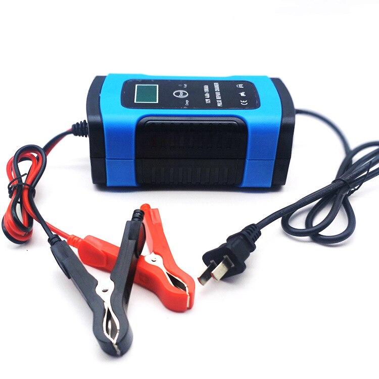 Cargador de batería de coche LCD rápido inteligente de 12 V y 6 A para motocicleta automática, baterías de GEL AGM de plomo y ácido, carga inteligente de 12 V voltios y 6 A AMP