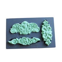 Silicone Mold Fondant Molds Vintage Art Decor Molds Mixed Media Clay Pattern Food Safe Food Grade