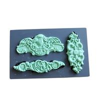 シリコン金型フォンダン金型:アートの装飾金型混合メディア粘土パターン食品安全食品グレード金型用ケーキデコレーショ