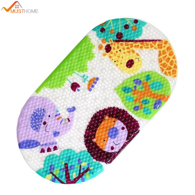 39cmx69cm Non Slip Baby Bath Mat For Toddler Cute PVC Bathtub Mat Christmas  Gift