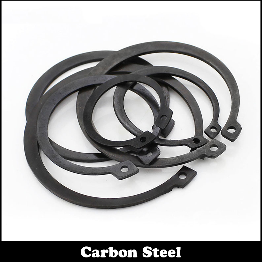 M58 M60 M62 M65 Black Carbon Staal Mn65 Wasmachine Din471 C Type Snap Borgring Voor 58mm 60mm 62mm 65mm Externe As Borgring