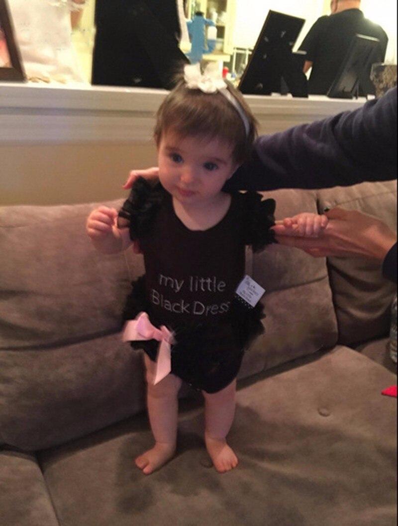 c60d0be35 Ai Meng Baby Little Girl Black Romper Infant Sleeper Pajamas ...