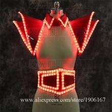 СВЕТОДИОДНЫЕ светящиеся сексуальная женская обувь с подсветкой свет Костюмы для бальных танцев Одежда для танцев LED реквизита для рождественской вечеринки события Костюмы