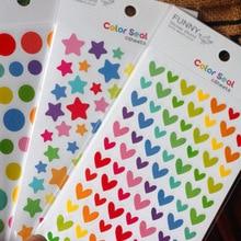 Stickers Paper Photo-Album Colorful Frame Props-Decor Scrapbook Cute DIY 6pcs Star Handmade