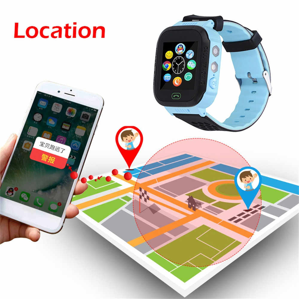 Beautyss Smart Electronics Q528 Smart Watch with GPS GSM Locator Screen Tracker SOS For Children Smartwatch Kids Russian