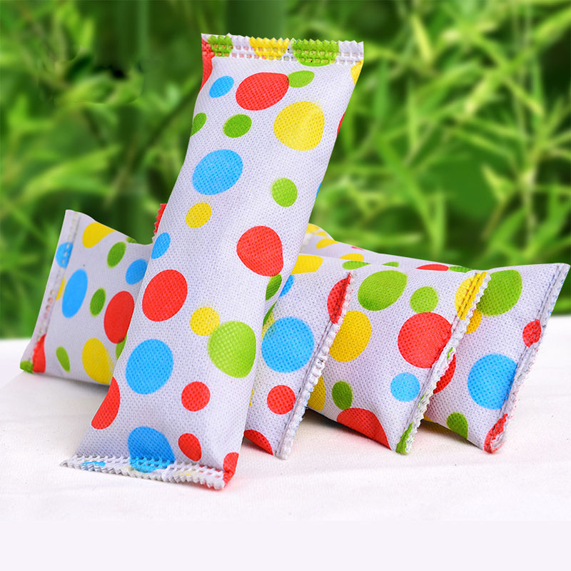 2 Pieces 18 * 7cm Odor Removal Absorbent Colorful Moisturizing Carbon Bag Non-woven Cloth Wardrobe Shoes Deodorant Tool