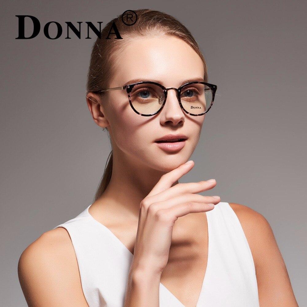 Donna Fashion Reading Eyeglasses Optical Glasses Frames Glasses Women New Cat Eye Frame Ultra