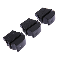 3pcs Universal Car Electric Power Window Switch With Green Light 12V Wire Harness Kits