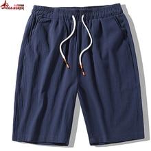Плюс размер L~ 7XL 8XL Повседневное Мужская для спортзала шорты для бега летние дышащие пляжные шорты Для мужчин эластичная кулиска на талии, хлопковая футболка с короткими