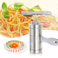 2015 new Portable manual multifunctional stainless pasta machine cooking tools noodle maker machine hand-cranked pasta maker