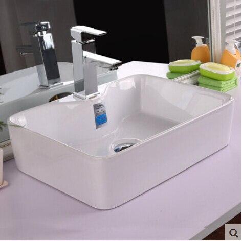 Witte rechthoek De wasbak wastafel badkamer wc art keramische ...