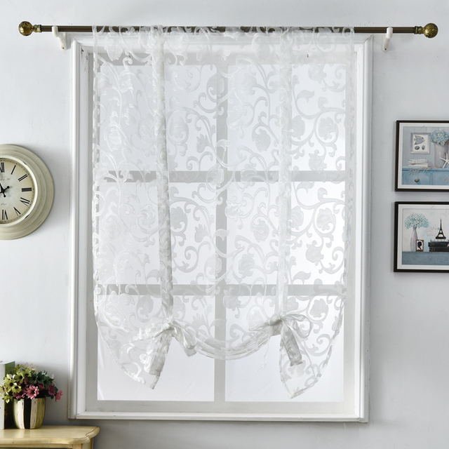 Exceptionnel Short Kitchen Curtains Half Curtains White Tulle Modern Design Home Textile  Modern Kitchen Jacquard Window Treatments