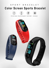 M3 smart bracelet color screen step heart rate waterproof  Sports call information reminds