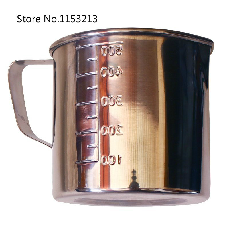 Thickening 304 stainless steel measuring cup 200ml Milk tea cup, coffee, liquid measuring cup with graduated 200cc never rust stainless steel dual measuring cup 40cc 20cc