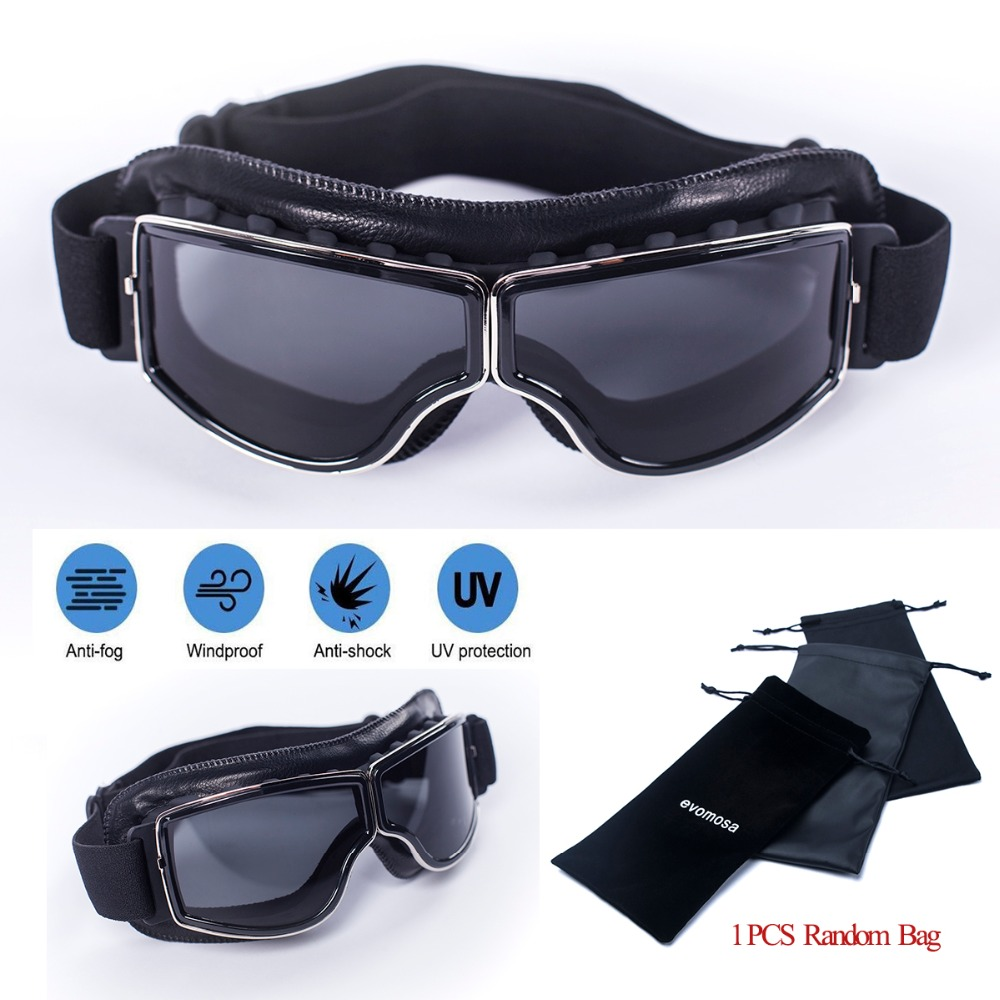 d9063aac91 Detail Feedback Questions about Aviator WWII Pilot Motorcross Moto Goggles  Vintage Scooter Glasses Motorbike Vintage Helmet Goggles Cruiser For Harley  on ...
