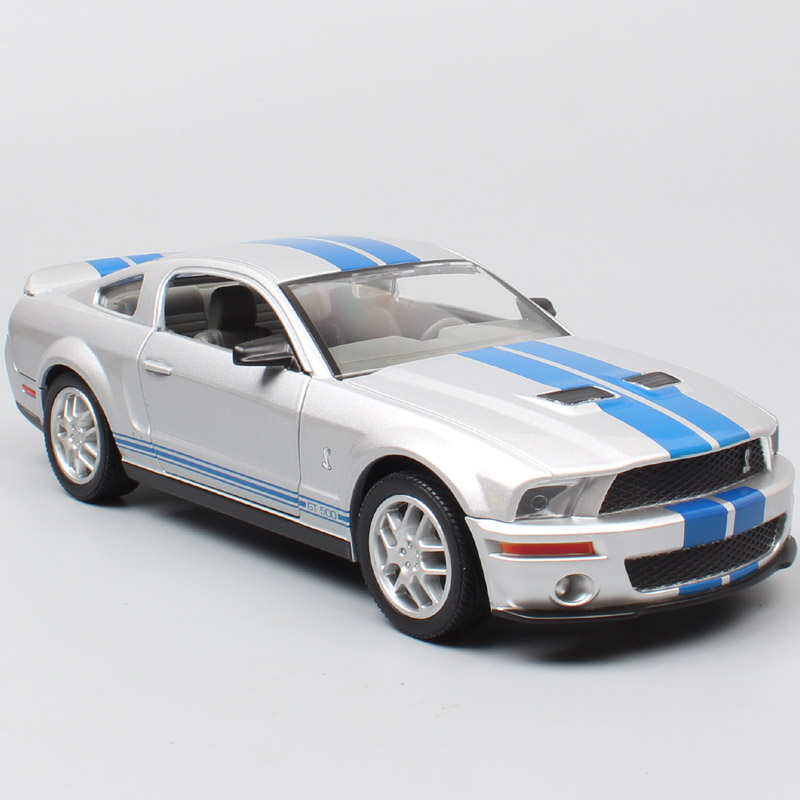 1/24 road signature <font><b>Ford</b></font> <font><b>Mustang</b></font> Shelby GT 500 muscle racing cars 2007 Die cast Vehicles scales model miniature car toy for kids image