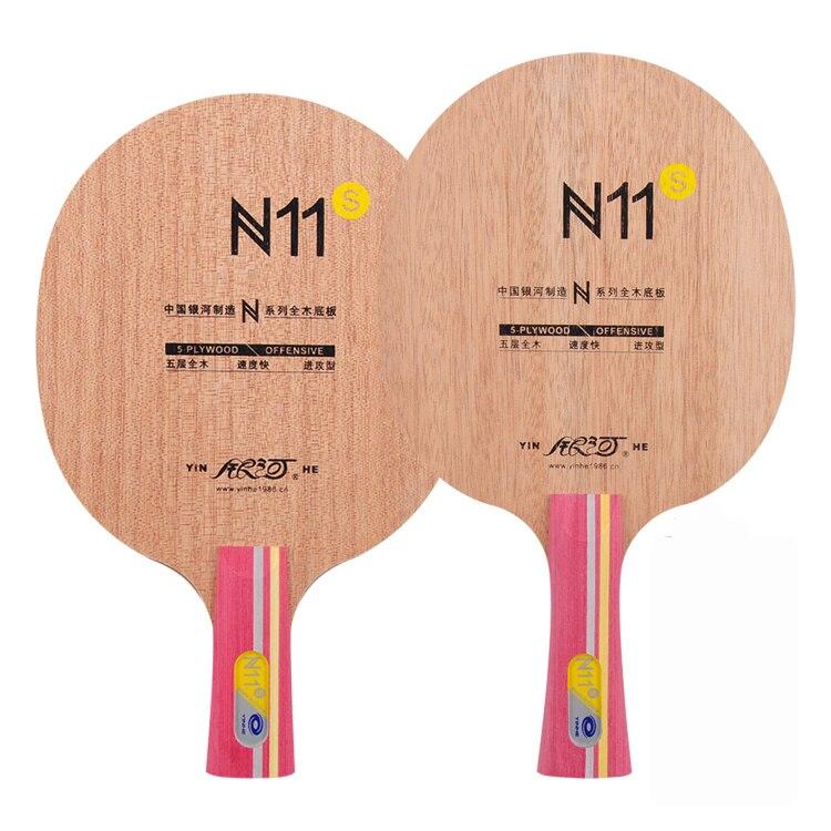 Raquetas de tenis de mesa profesionales originales Yinhe pure wood N-11S para principiantes raquetas de tenis de mesa ataque rápido con bucle YINHE Qing Pips largo de goma/OX Topsheet Galaxy tenis de mesa de goma de ping pong esponja