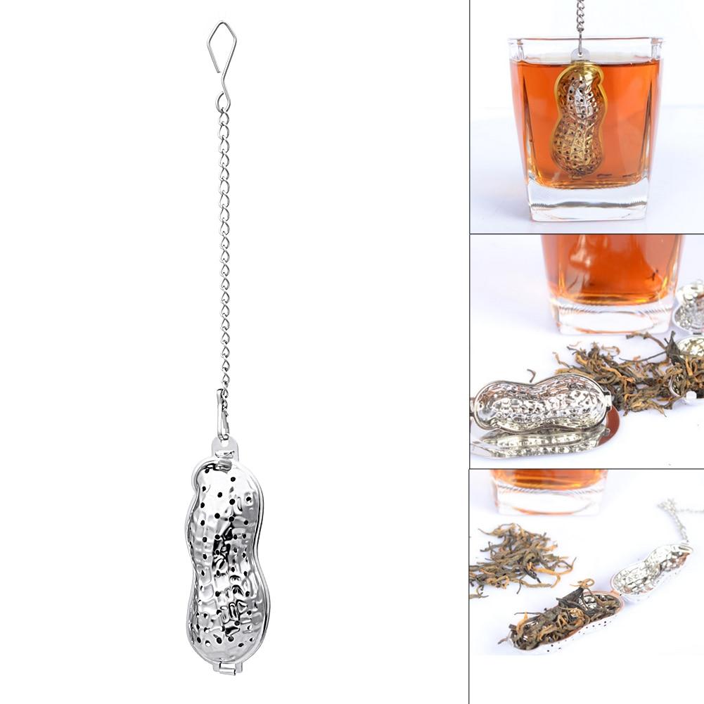 popular coffee tea accessoriesbuy cheap coffee tea accessories  - tea leaf infuser stainless steel peanut shaped tea strainer herbal spiceinfuser loose leaf filter device