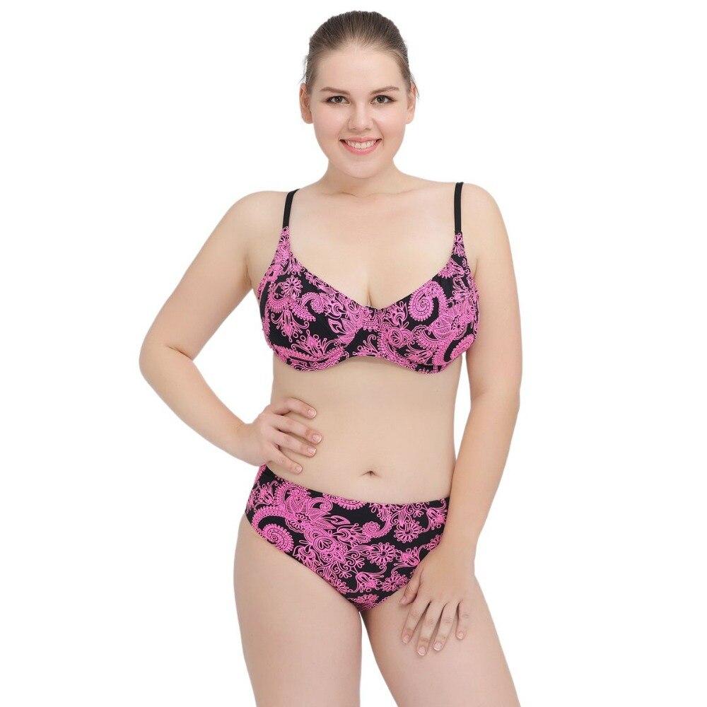 Женщин плюс Размер купальник бикини костюм сексуальный Стиль купальный костюм пляж носит плюс Размер высокой талией бикини установить поплавать Л-Размер 3XL