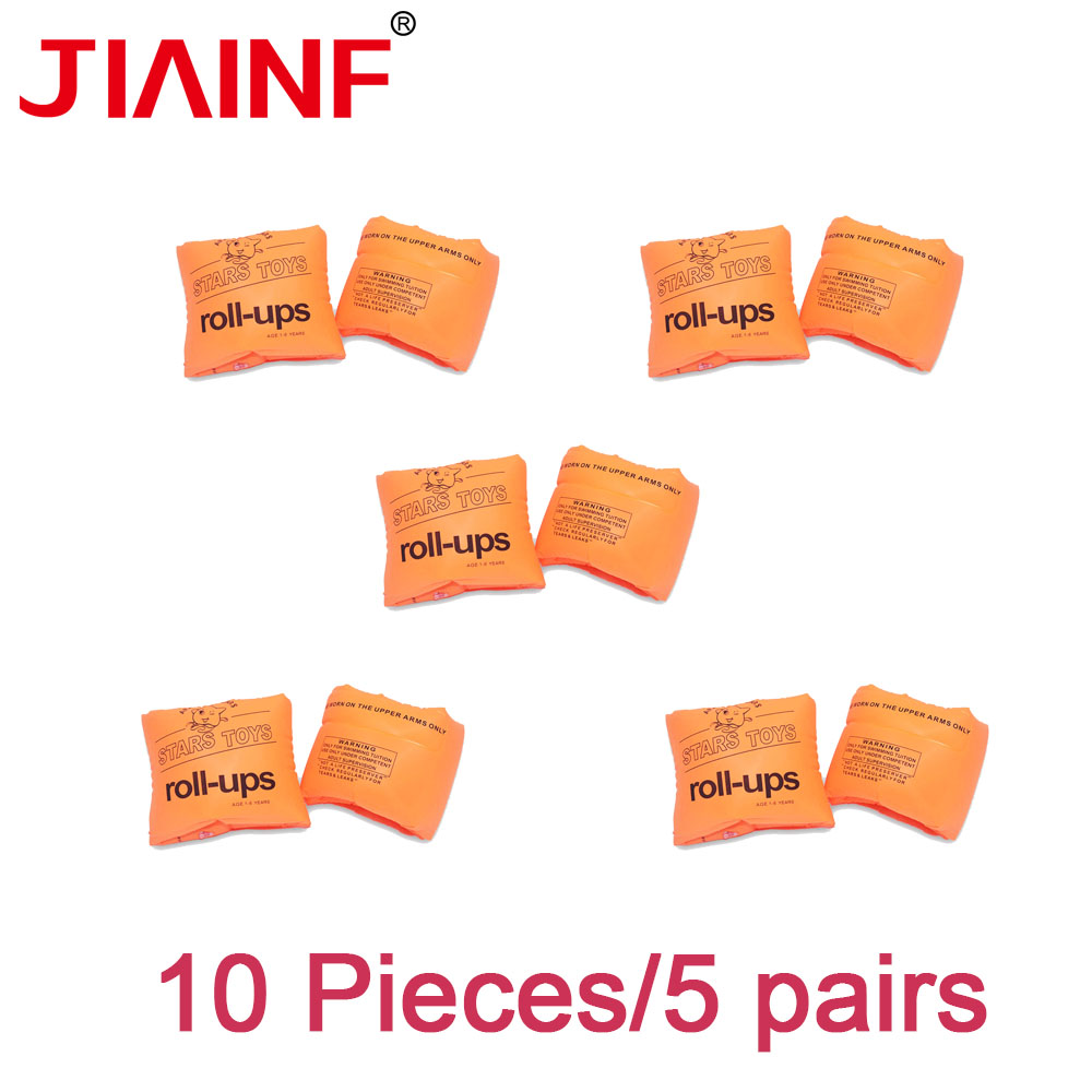 JIAINF Inflatable Orange Arm Ring Swimming Ring For Children Water Float Party Toys Cute Pool Float For Kids 10pcs/5 Pairs
