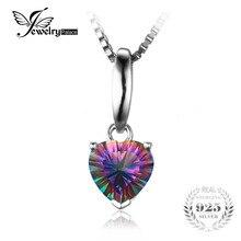 Jewelrypalace corazón genuino rainbow fuego mystic topaz colgante de joyería fina sólido puro 925 no incluye una cadena