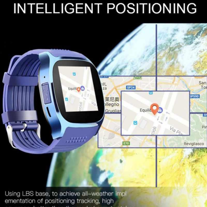 Новые смарт-часы T8 Bluetooth Smartwatch Интеллектуальный спортивный шагомер для телефона наручные часы Android Поддержка SIM tf-карты вызова