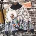 Invierno nueva lentejuelas de dibujos animados patrón de suéter bola de lana sweater-dod118