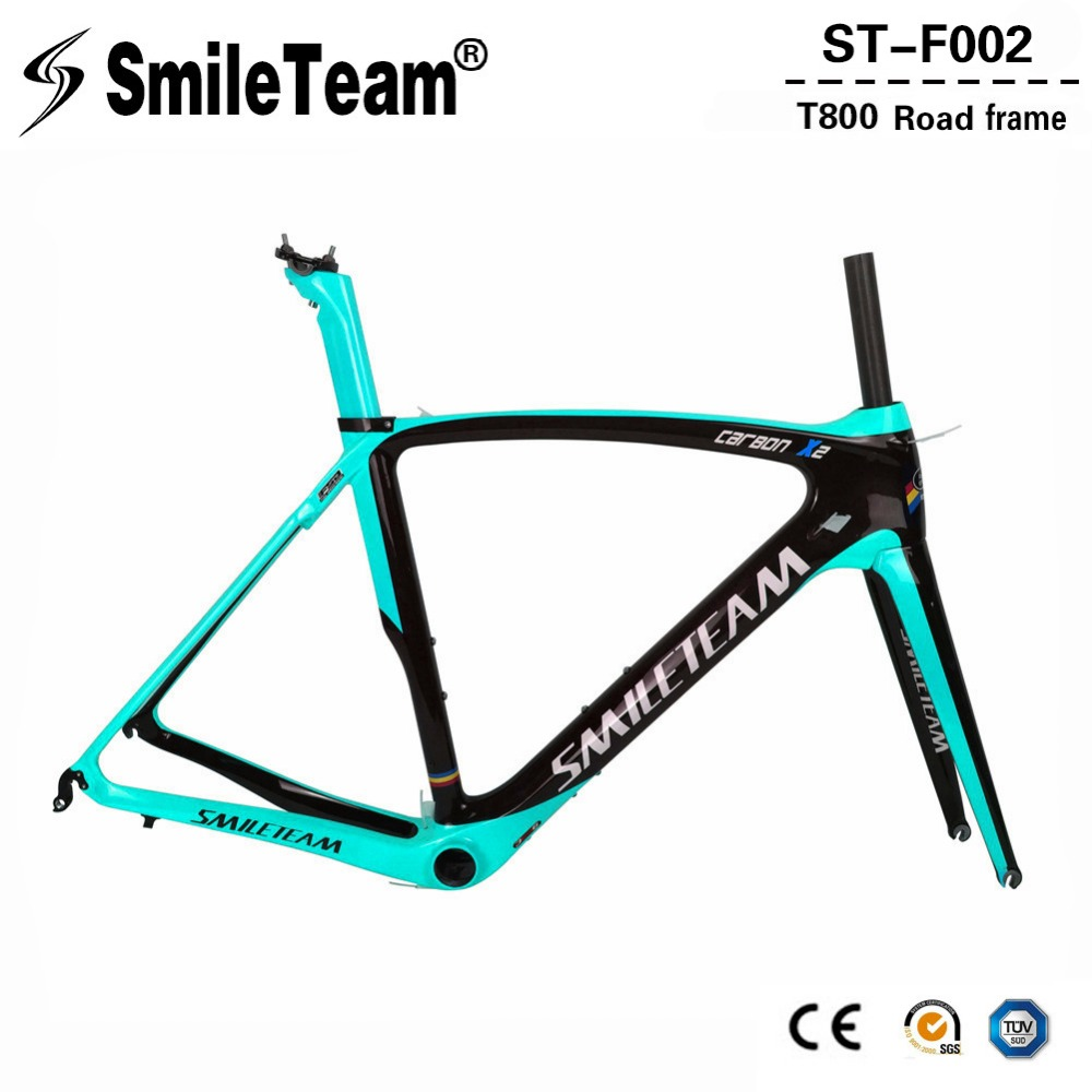 Newest carbon road frame 2018 super light DI2 carbon road bike frame with fork+headset+seatpost+clamp bicicleta carbon frame 2018 t800 full carbon road frame ud bb86 road frameset glossy di2 mechanical carbon frame fork seatpost xs s m l og evkin
